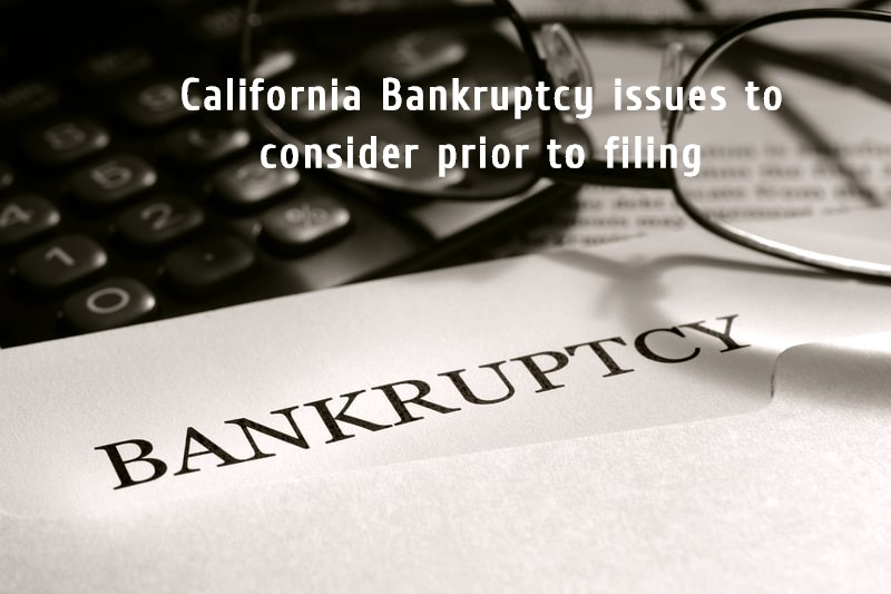California Bankruptcy issues
